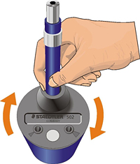 STAEDTLER Mars leadholder sharpener instructions